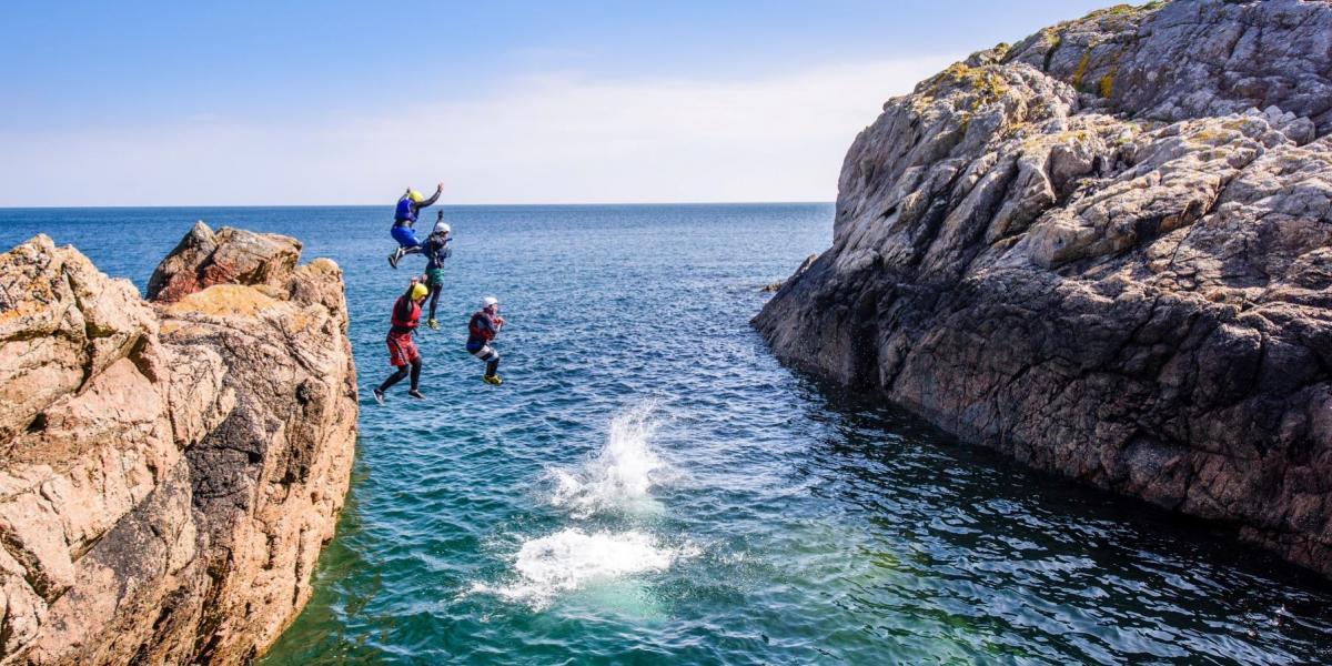Coasteering on Guernsey