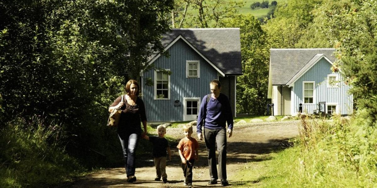 Self-catering lodges at Crieff Hydro