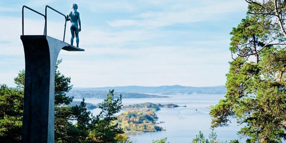 Oslo Fjord from the Ekebergparken Sculpture Park. © Visit Oslo