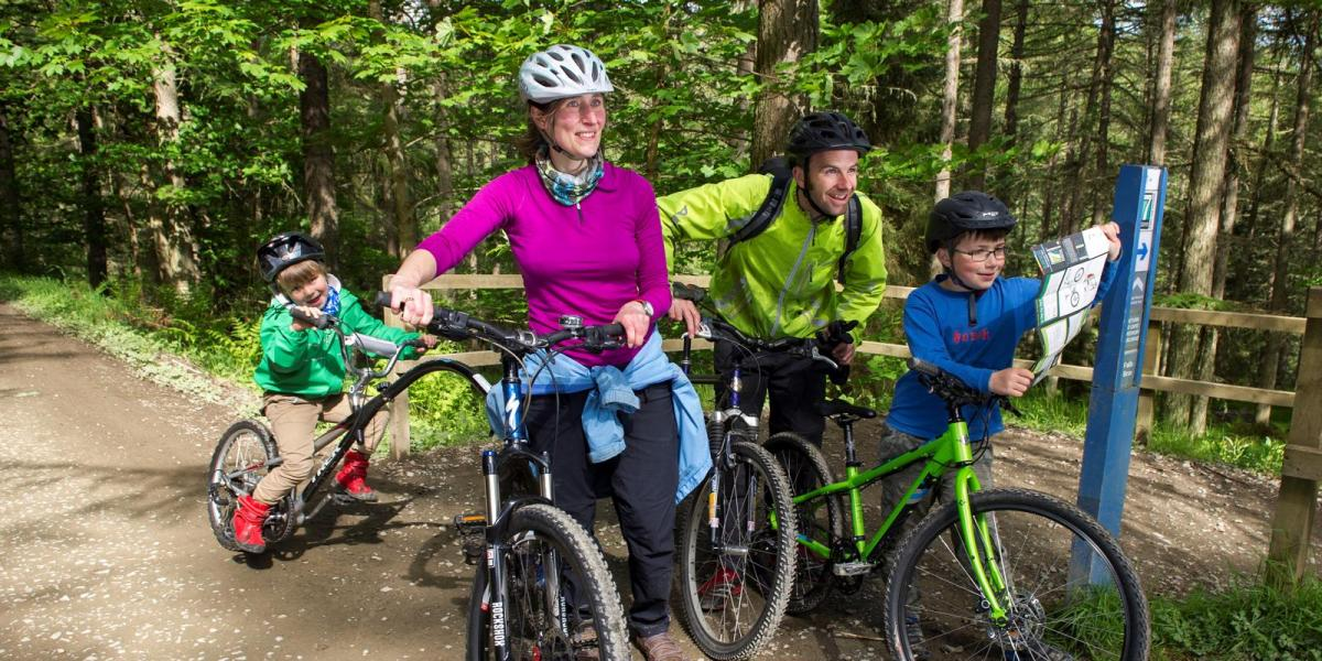 Family fun at Glentress Mountain Bike Centre, Scotland