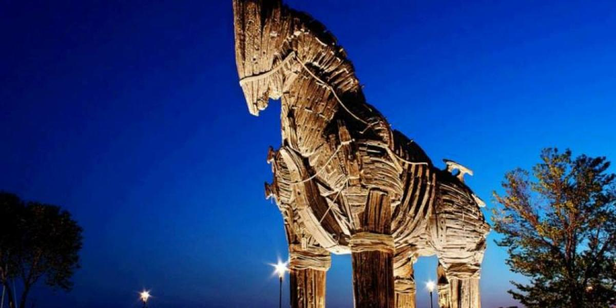 Wooden horse at Troy.