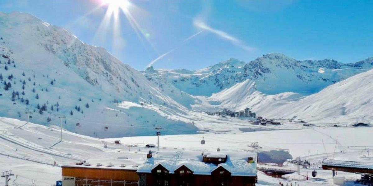 View from a family-room balcony at the Aiguille Percée, Tignes.