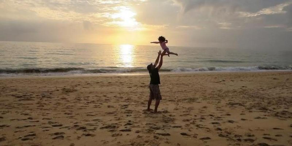 Fun on the beach in the Algarve.
