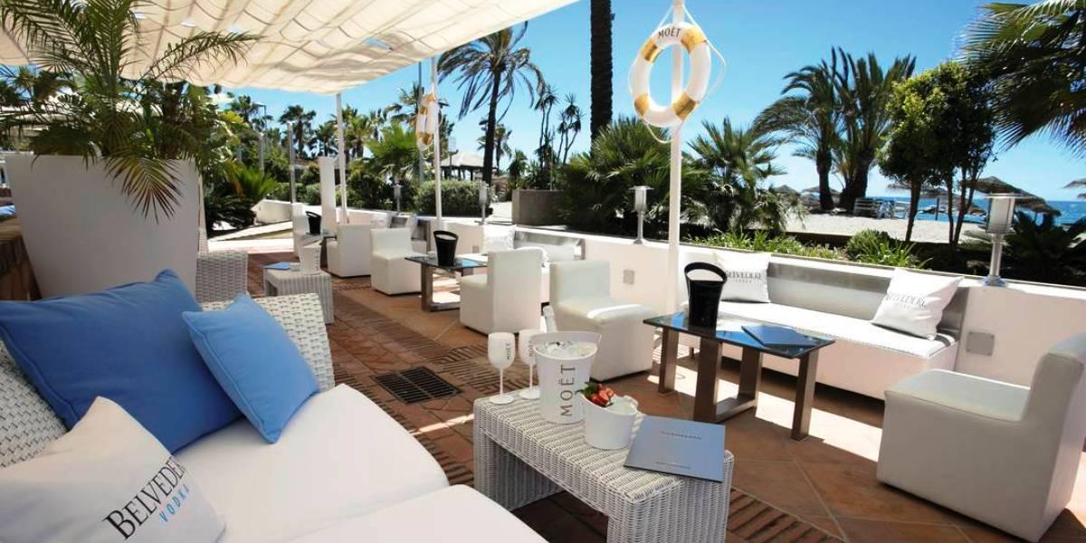 Stylish bar at Gran Hotel Guadalpin Marbella and Spa.