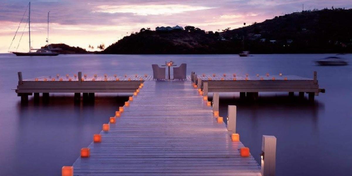 Private dining at Carlisle Bay, Antigua.