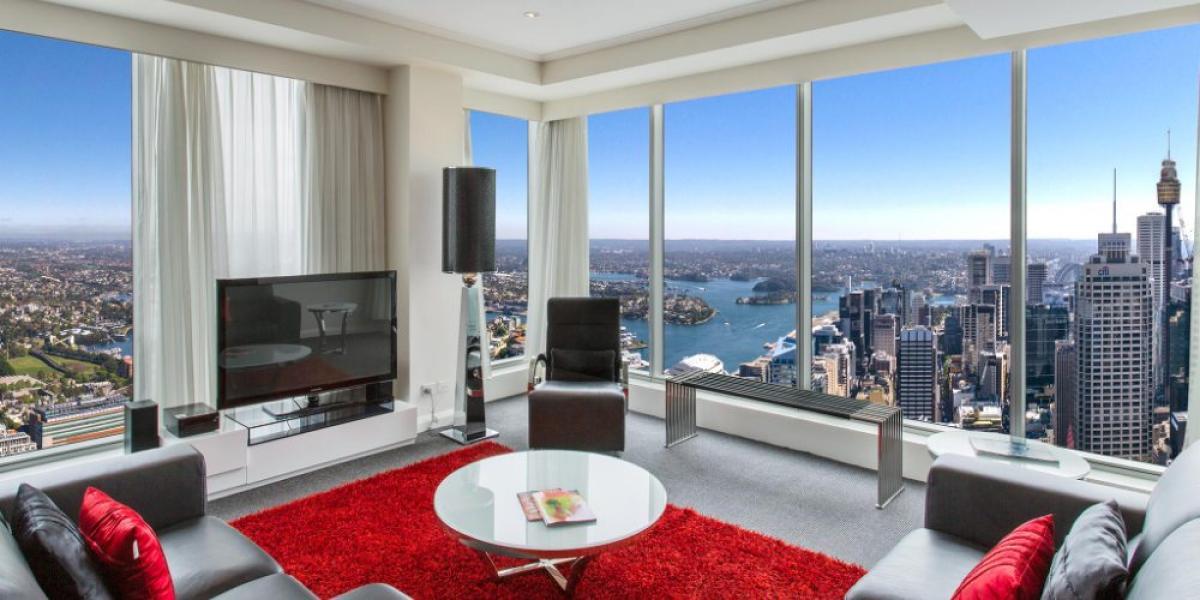 Meriton Serviced Apartments boast wonderful city views