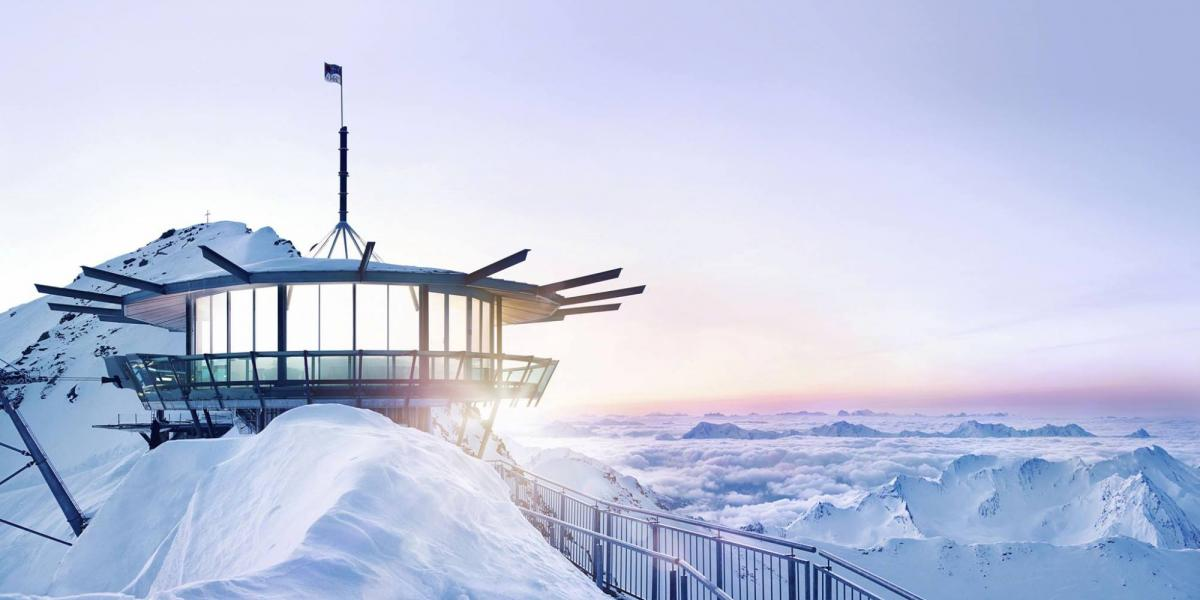 Top Mountain Star viewing platform and restaurant, Obergurgl in the Tirol.