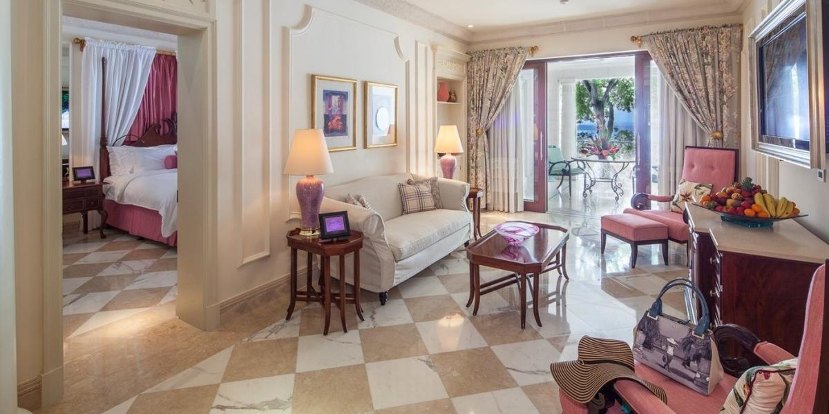Luxury Dolphin Suite at Sandy Lane.