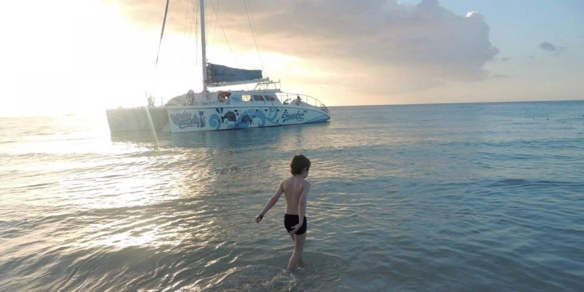 On Negril beach