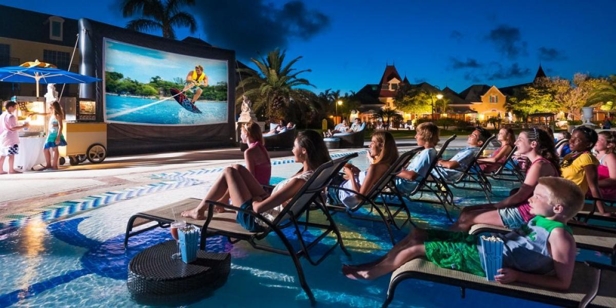 Pool cinema at Beaches Turks & Caicos.