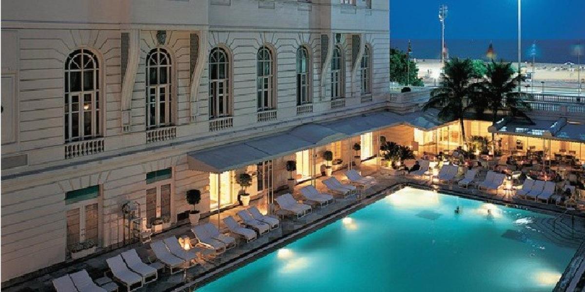 Pool at the Belmond Copacabana Palace Hotel.