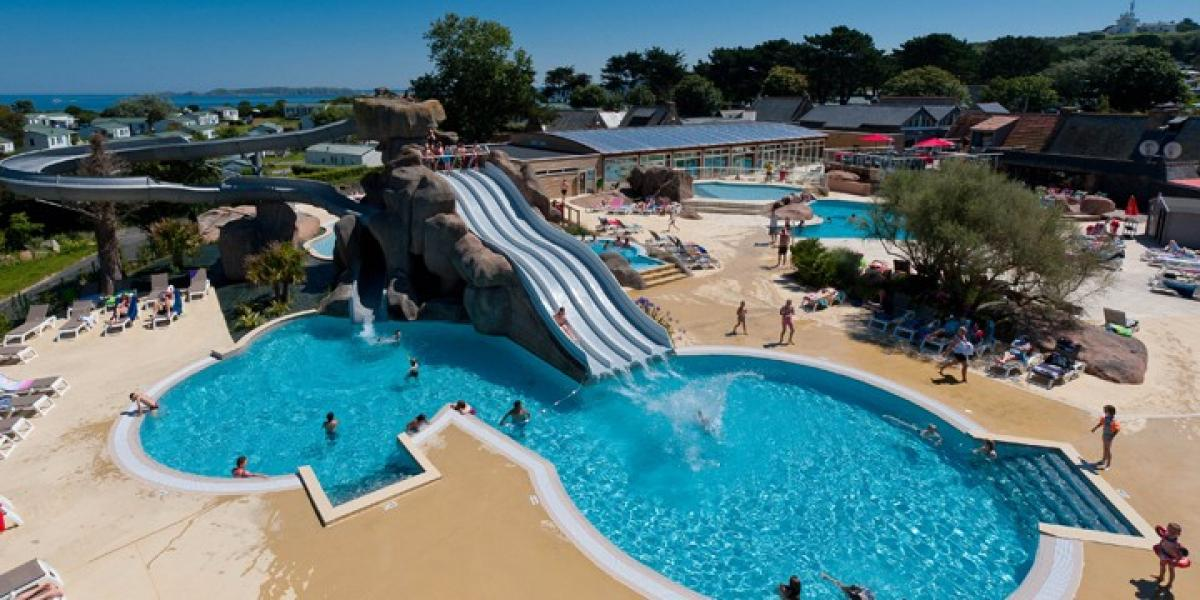 Pool complex at Le Ranolien Campsite.