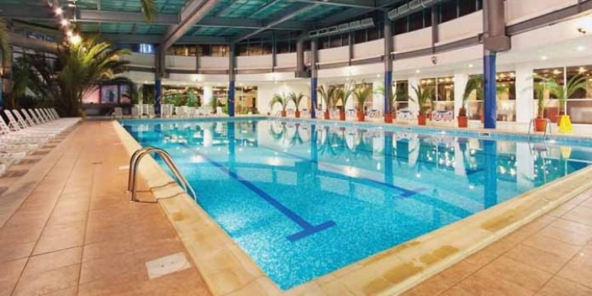 Indoor pool at Hotel Rila.