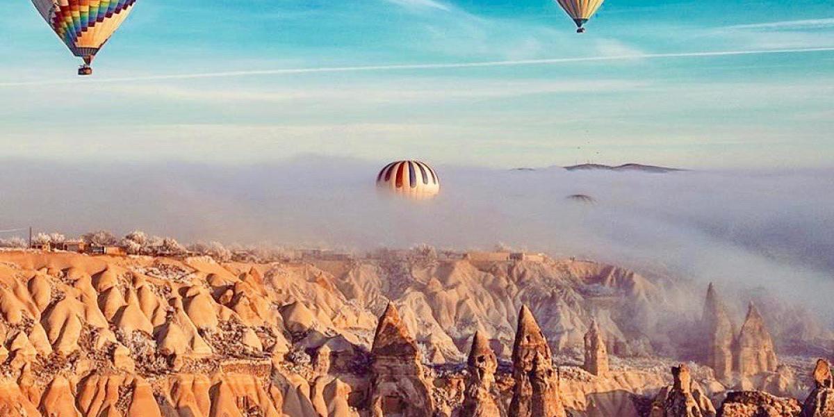 Balloon-rides over the fairy chimneys of Cappadocia.