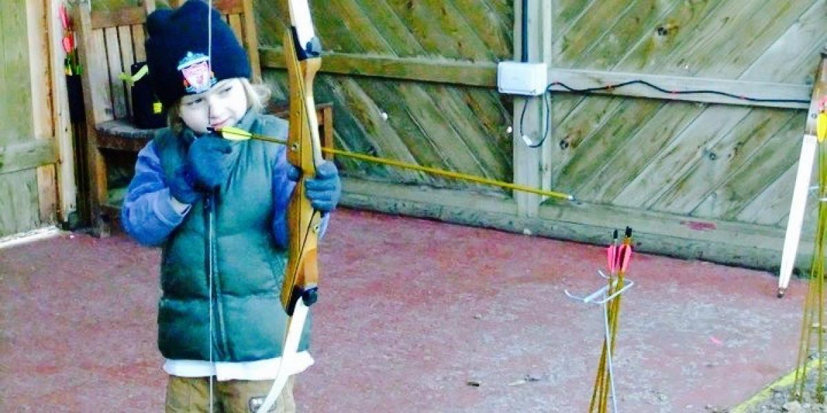 Archery at Center Parcs Whinfell Forest.