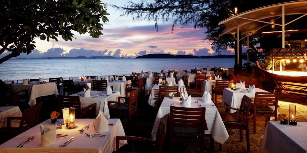 Dining on the beach at Centara Grand Beach Resort Krabi