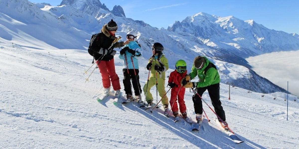 On the pistes of Le Tour.