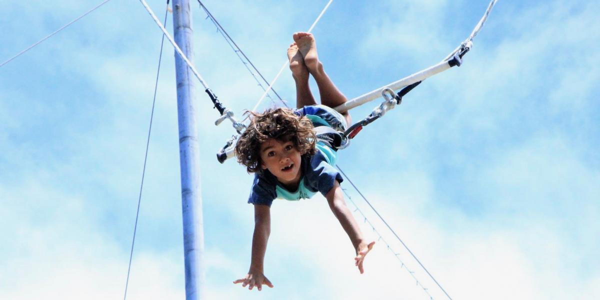 Trapeze fun with Circus Arts.