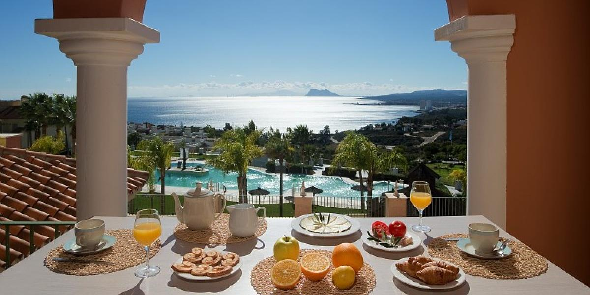 Breakfast with a view at Holiday Village Terrazas Costa del Sol.