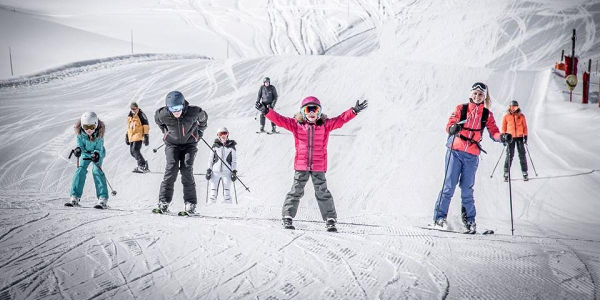 Family fun on the slopes of Courchevel.
