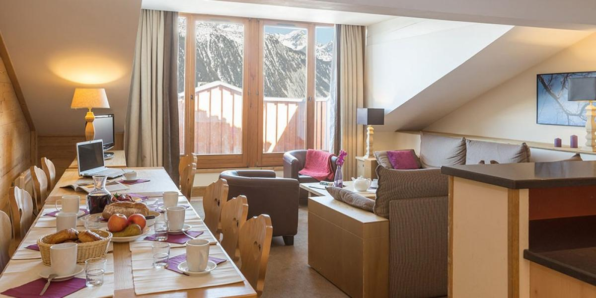 Apartment interior at Pierre & Vacances Premium Residence Les Chalets du Forum.