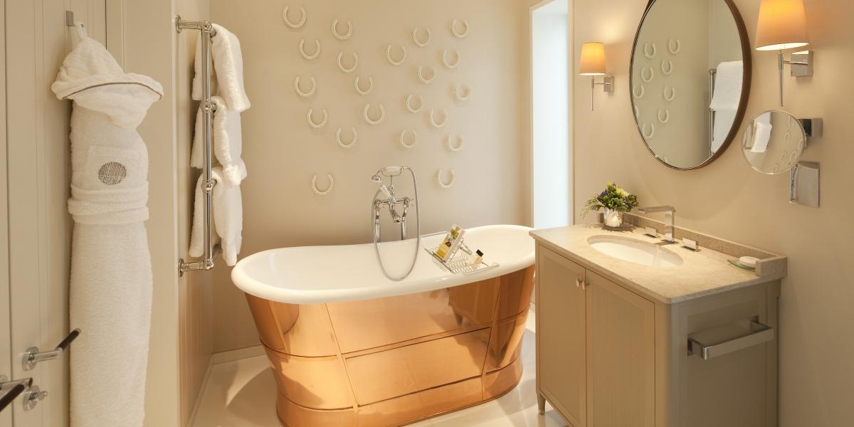 A bathroom at Coworth Park