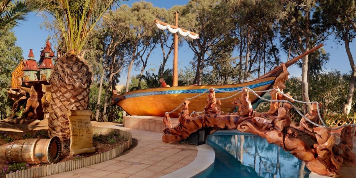Minoan-themed amusement park atOut of the Blue, Capsis Elite Resort.