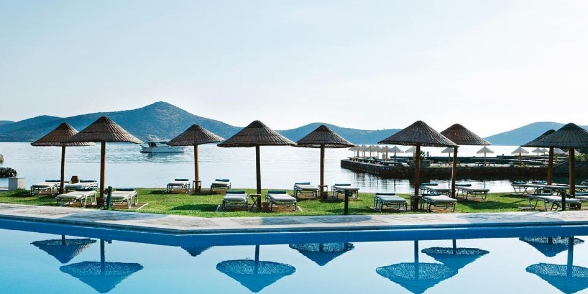 Main pool at Porto Elounda Golf and Spa Resort.