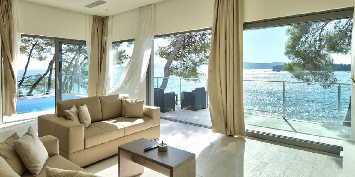 Secluded villa with sea views at Crvena Luka Hotel & Resort.