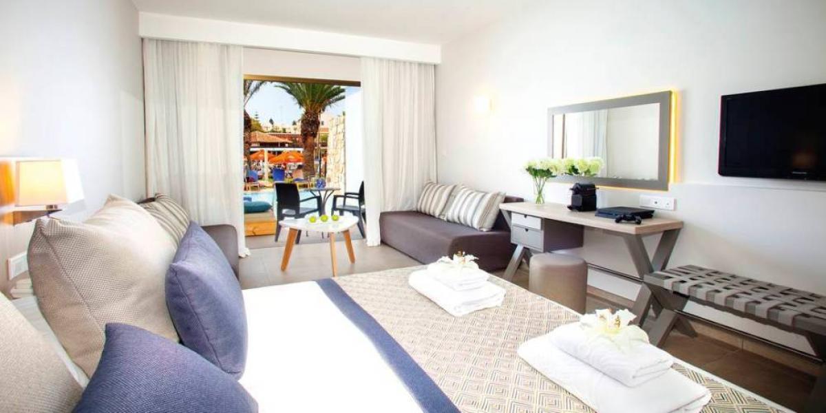 Family room at TUI BLUE Atlantica Aeneas Resort.