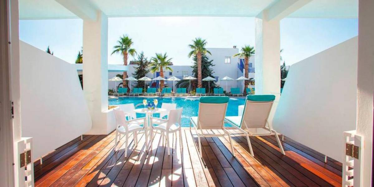 Swim-up room at the Holiday Village Aliathon, Cyprus.