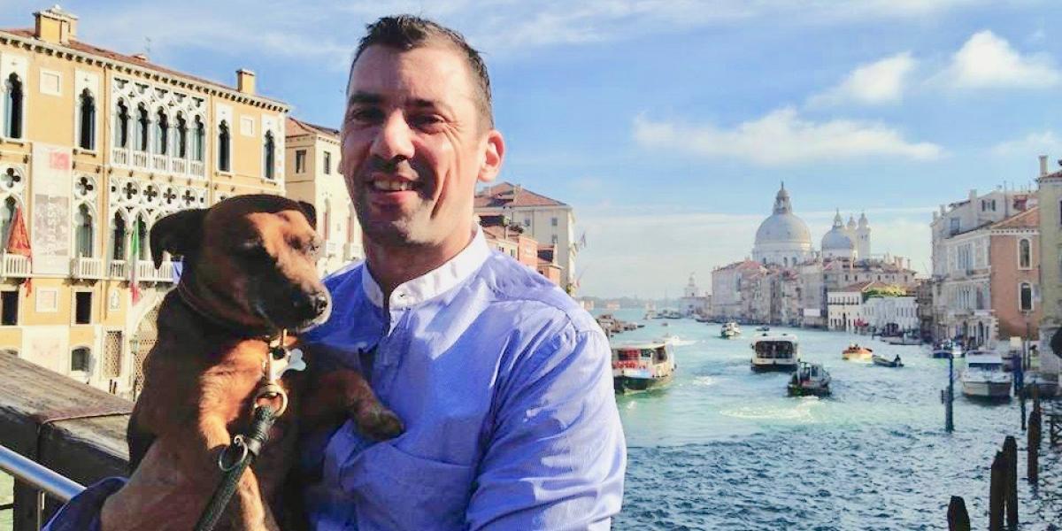 Damian Dibben in Venice.