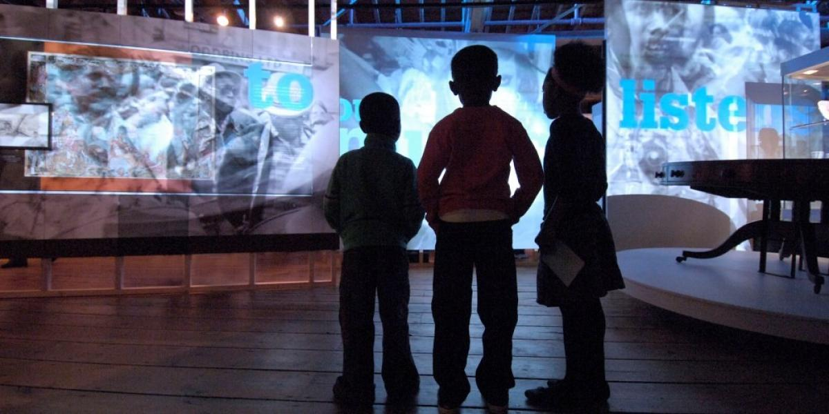 Young visitors at the Museum of London Docklands