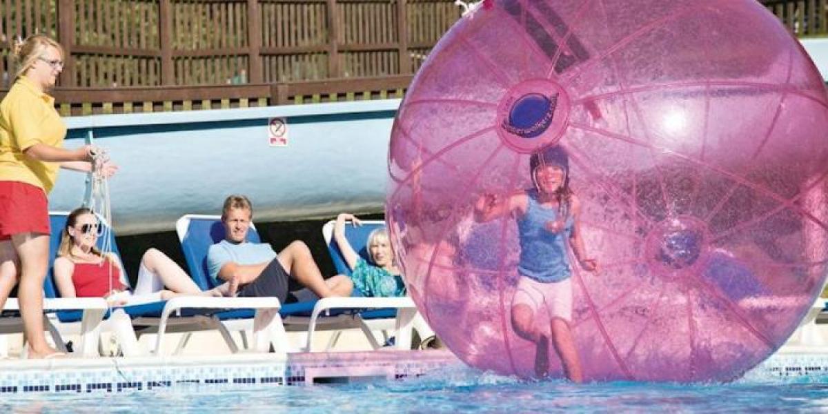 WaterWalkerz at Finlake Holiday Resort.