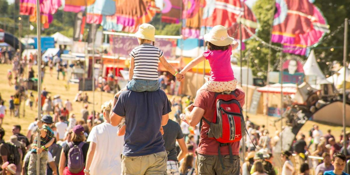 Families at Camp Bestival.