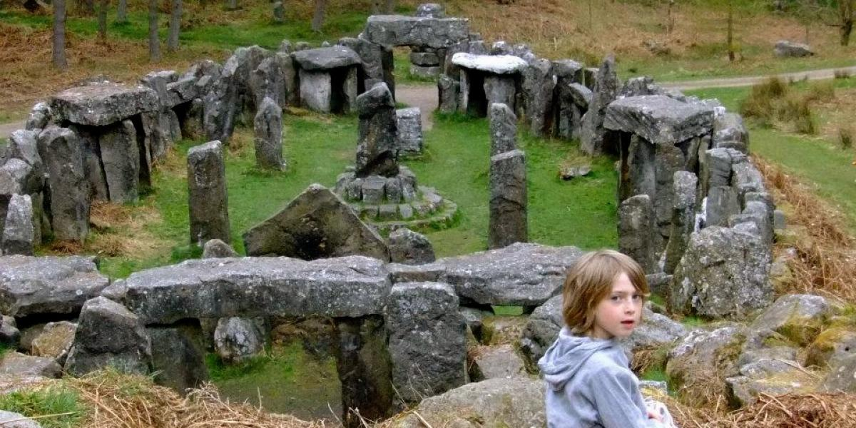 Playing by the Druid's Temple.