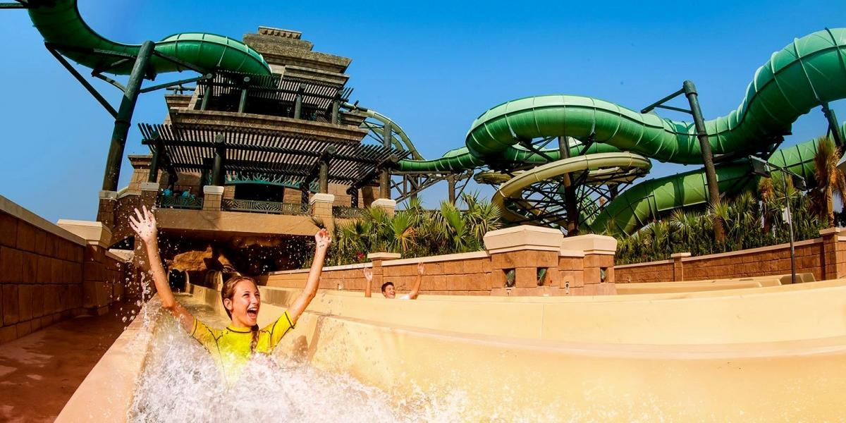 Waterpark fun in Dubai.