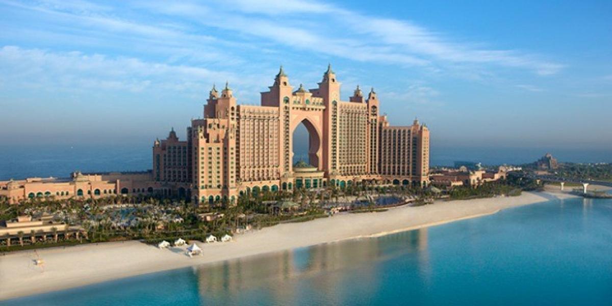 View towards Atlantis The Palm.