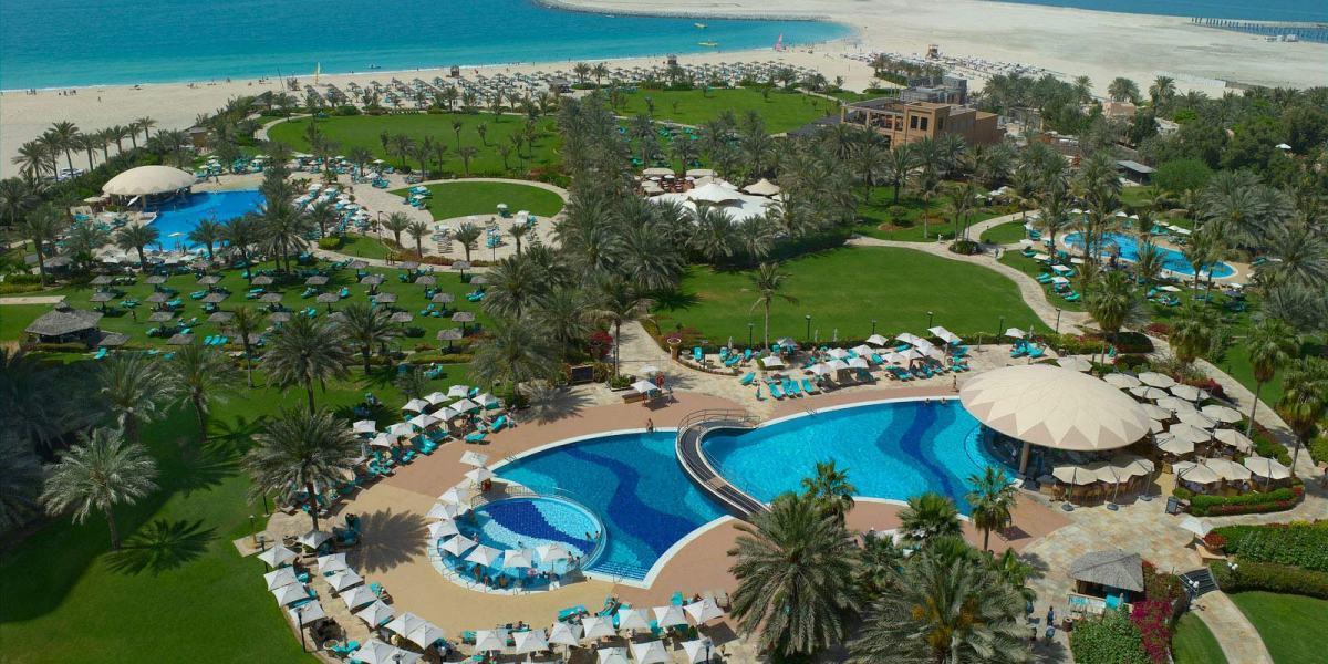 Aerial view of Le Royal Meridien Beach Resort & Spa, Dubai.