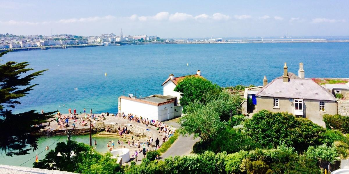 View over Sandycove from the Joyce Tower. .