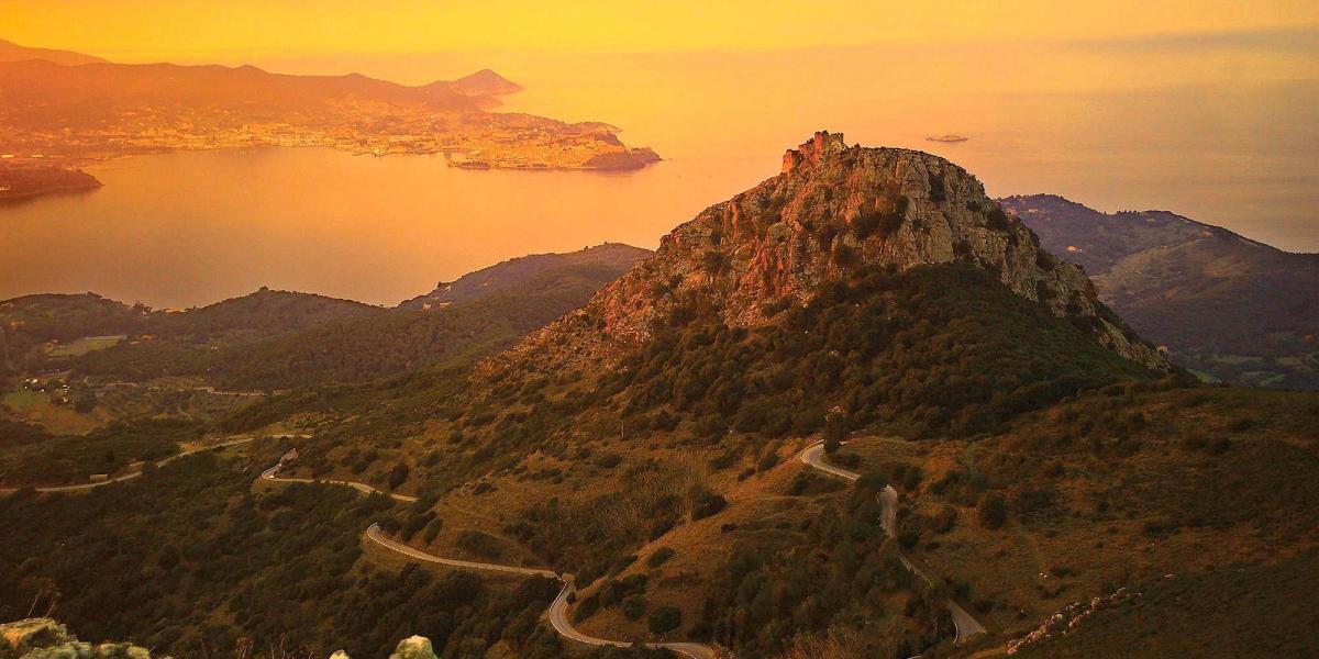 Elba's great road-biking terrain.