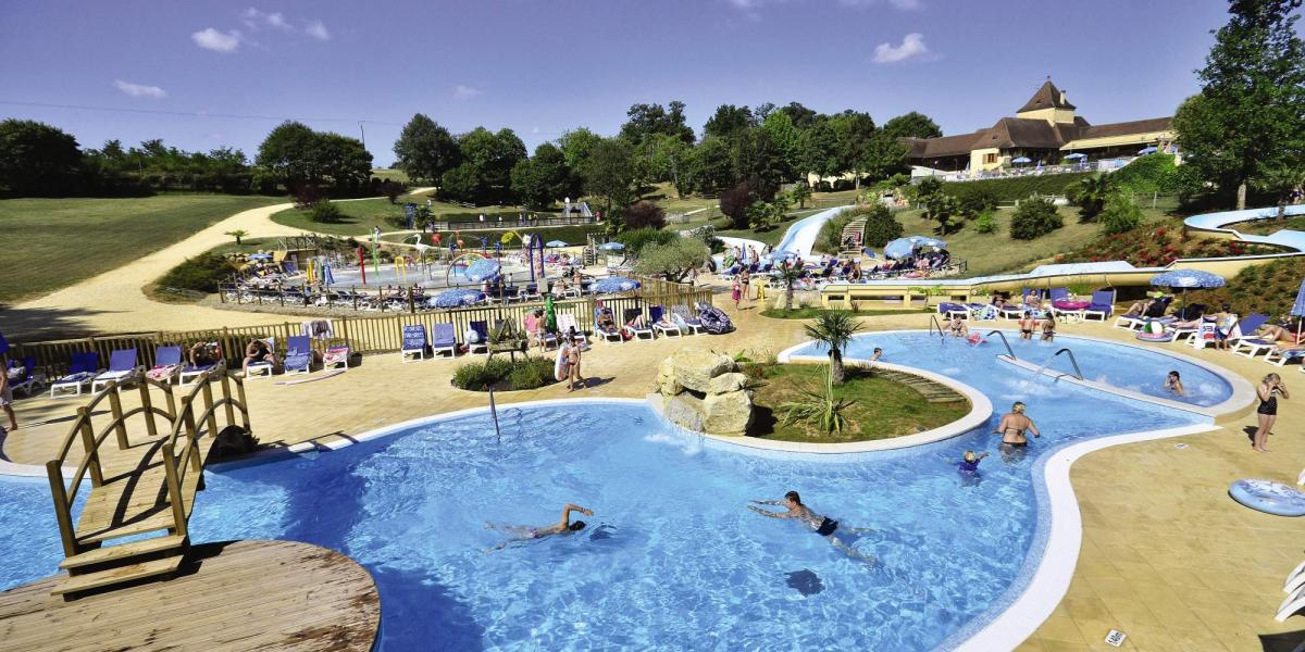 Pool at St. Avit Loisirs Campsite.