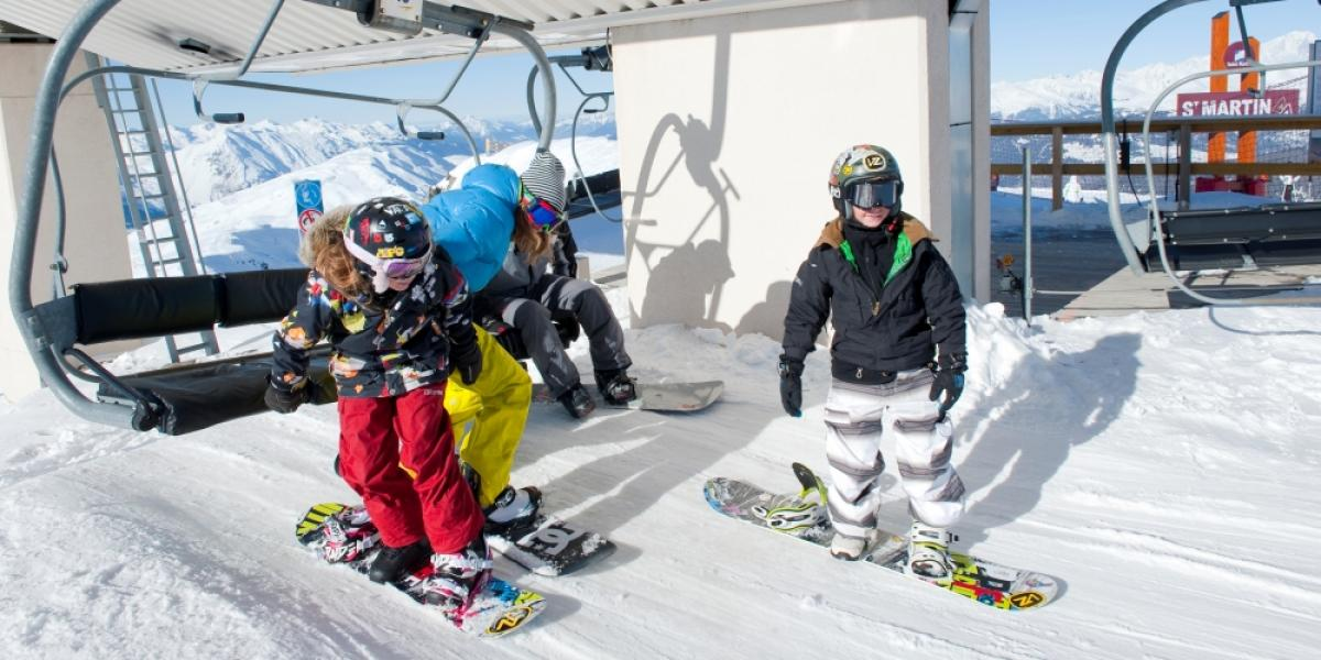 Family fun on the slopes in Les Menuires.