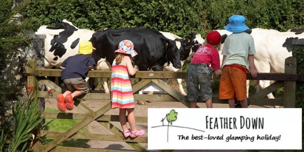 Feather Down Farms offer family glamping breaks on working farms.