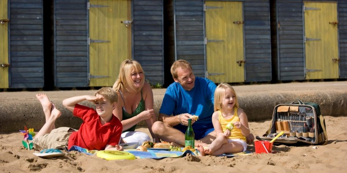 Family on the beach at Broadstairs