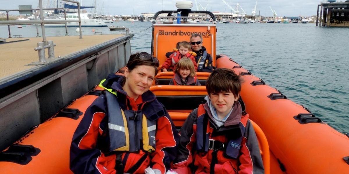 Aboard the Herm Explorer, Guernsey