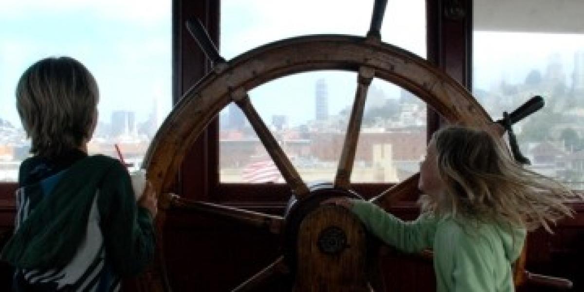 On-board a boat in San Francisco