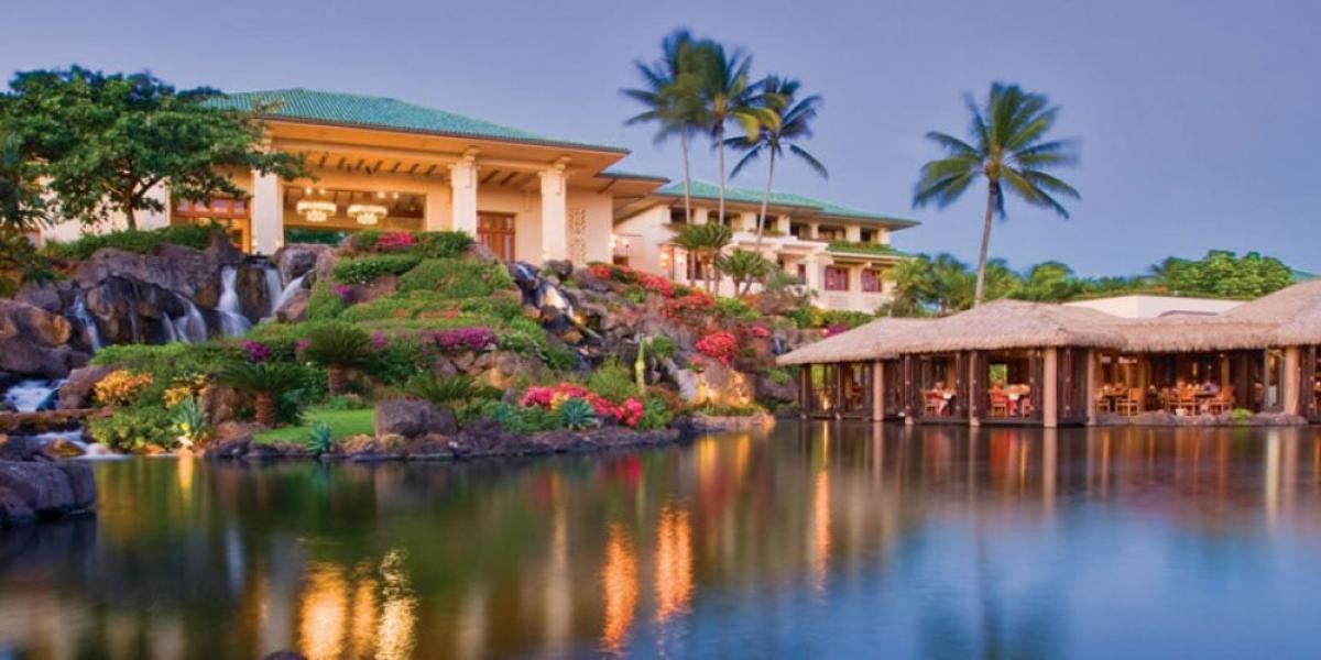 Pool at Grand Hyatt Kauai Resort & Spa.