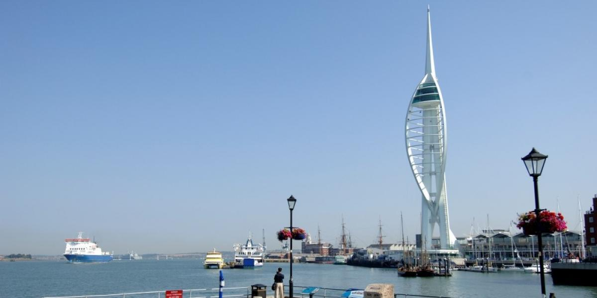 Portsmouth waterfront with Spinnaker Tower