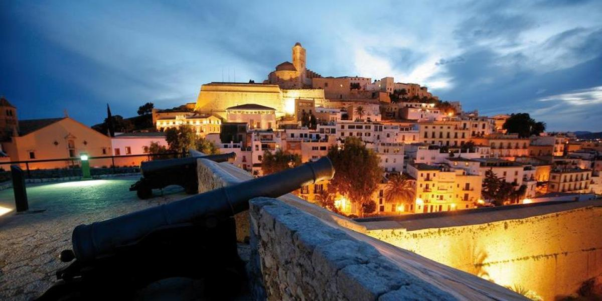 Ibiza Town by night.